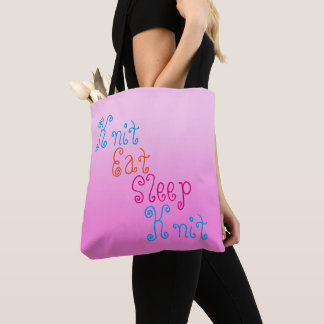 Knit Eat Sleep Knit - knitting project Tote Bag