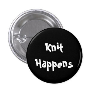 Knit Happens 3 Cm Round Badge
