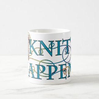 Knit Happens Basic White Mug