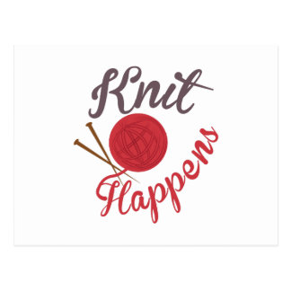 Knit Happens Postcard