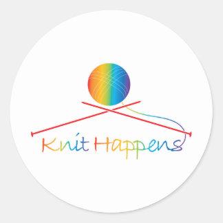 Knit Happens Round Sticker