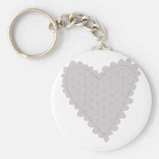 Knit Heart Keychains