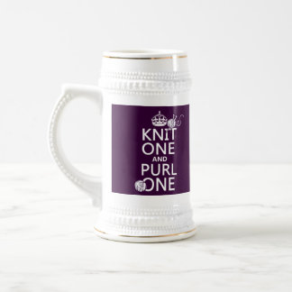 Knit One and Purl One (keep calm-all colors) Beer Steins