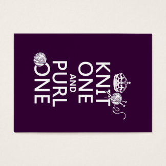 Knit One and Purl One (keep calm-all colors) Business Card