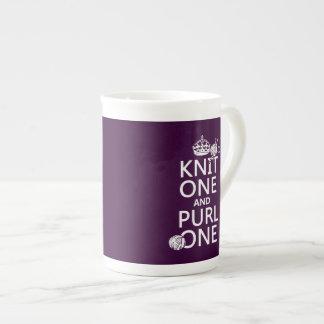 Knit One and Purl One (keep calm-customize) Bone China Mug