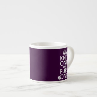 Knit One and Purl One (keep calm-customize) Espresso Mug