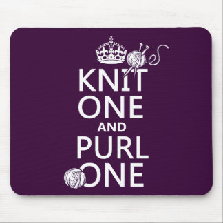 Knit One and Purl One Mouse Mat