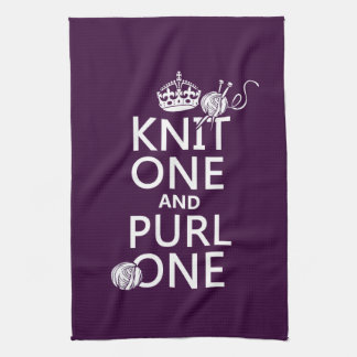 Knit One and Purl One Tea Towel
