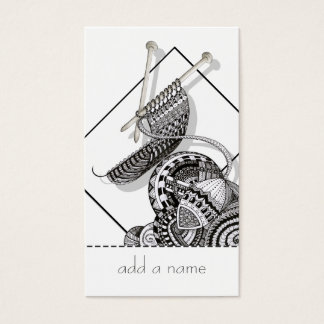 Knit One Doodle Art Business Card