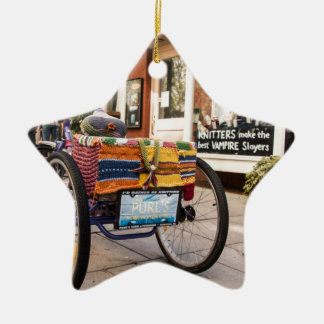 Knit One, Purl Two Ceramic Star Decoration