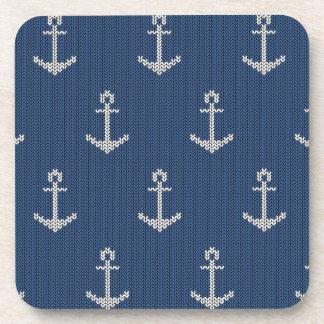 Knit Sea Anchor Beverage Coaster