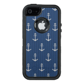 Knit Sea Anchor OtterBox Defender iPhone Case