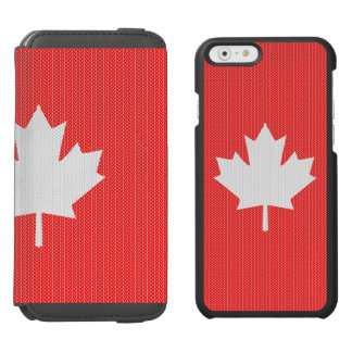 Knit Style Maple Leaf Knitting Motif Incipio Watson™ iPhone 6 Wallet Case