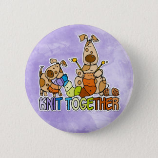 knit together 6 cm round badge