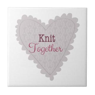 Knit Together Ceramic Tiles