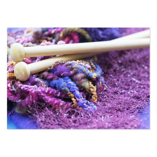 Knit with me large business card
