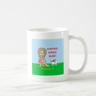 kniteo ergo sum lambspun coffee mug