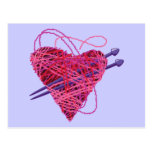 kniting heart postcards