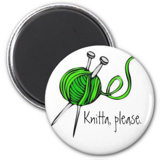 Knitta, Please. Magnet