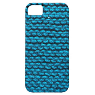 Knitted blue pattern case for the iPhone 5