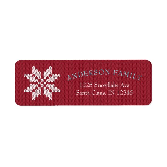 Knitted Christmas Sweater Return Address Labels
