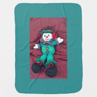 Knitted clown pramblanket