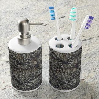 Knitted dark pattern | soap dispensers
