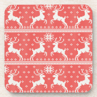 Knitted Deer Pattern Coaster