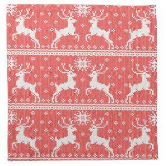 Knitted Deer Pattern Napkin