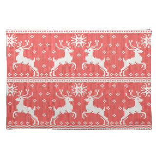 Knitted Deer Pattern Placemat