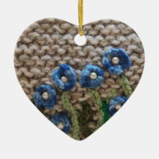 knitted garden christmas ornament