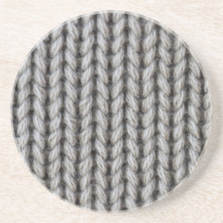 knitted hand made coaster