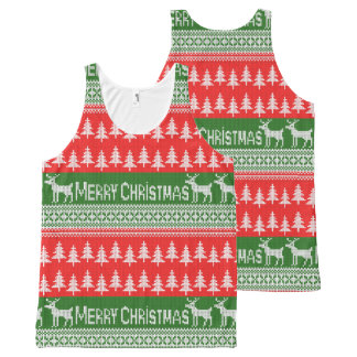 "Knitted ""Merry Christmas"" pattern All-Over Print Tank Top"
