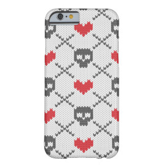 Knitted pattern with skulls barely there iPhone 6 case