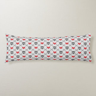 Knitted pattern with skulls body cushion