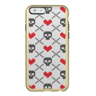 Knitted pattern with skulls incipio feather® shine iPhone 6 case