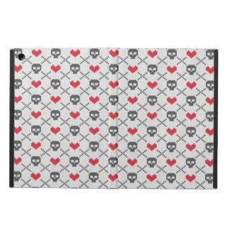 Knitted pattern with skulls iPad air cover
