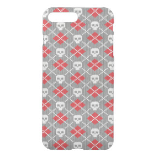 Knitted pattern with skulls iPhone 8 plus/7 plus case