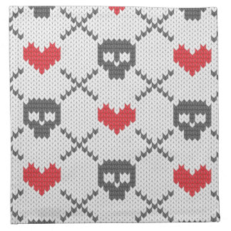 Knitted pattern with skulls napkin