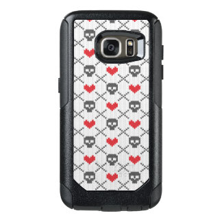 Knitted pattern with skulls OtterBox samsung galaxy s7 case