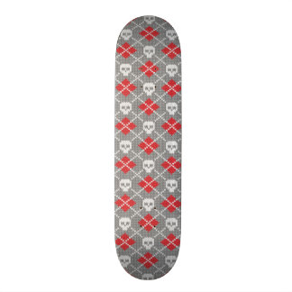Knitted pattern with skulls skate deck