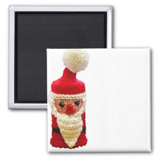 Knitted santa claus refrigerator magnet