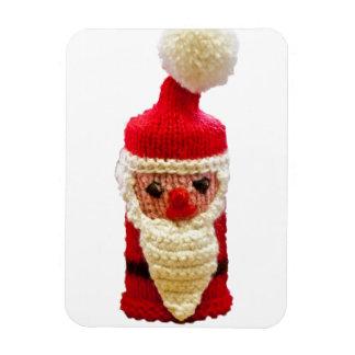 Knitted santa claus vinyl magnet