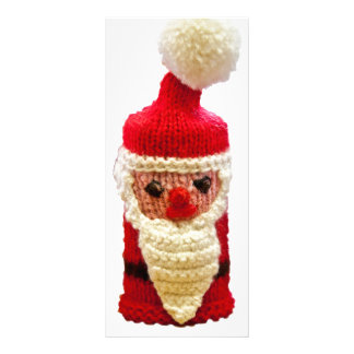 Knitted santa claus full color rack card