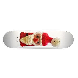 Knitted santa claus skate board