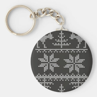 knitted sweater pattern keychain