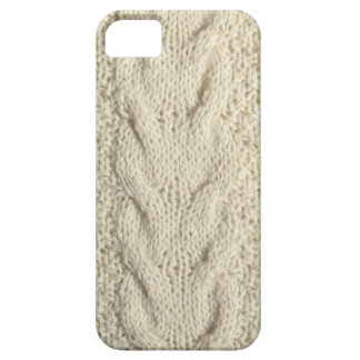 Knitted white pattern iPhone 5 cover