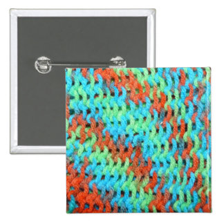 Knitted Yarn in Bright Colors 15 Cm Square Badge