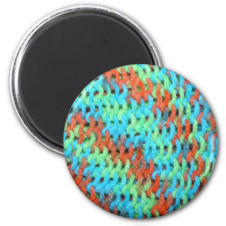Knitted Yarn in Bright Colors 6 Cm Round Magnet