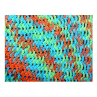 Knitted Yarn in Bright Colors Postcard